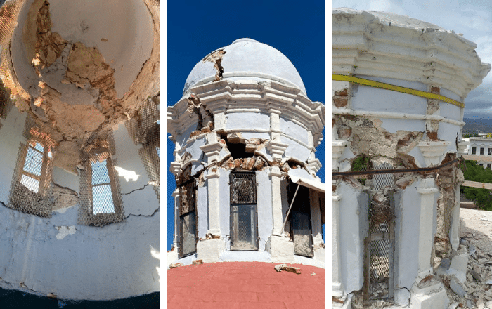 Remueven linterna de Catedral de Ponce