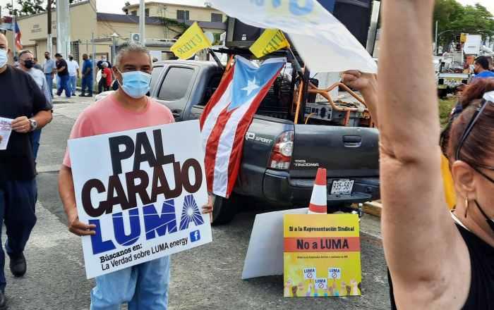 Luchan contra LUMA en Ponce