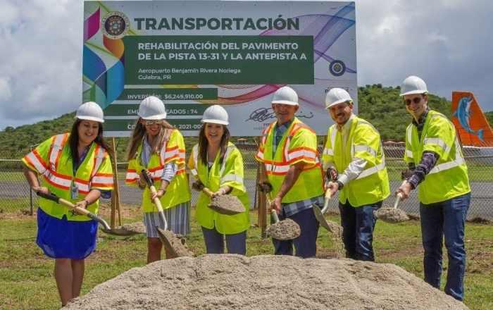 Inician reconstrucción de la pista del aeropuerto de Culebra