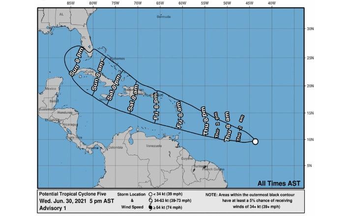 Potencial tormenta en aguas caribeñas