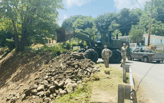 Guardia Nacional comienza a limpiar ríos en Patillas