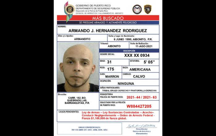 Buscan a hombre con orden de arresto federal