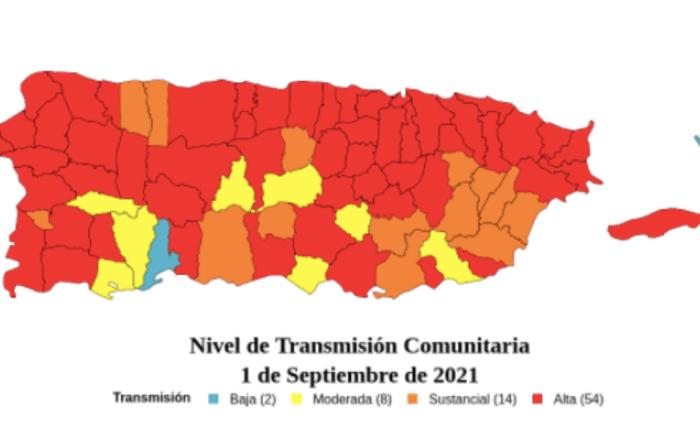 6 pueblos sureños en nivel de transmisión alta de Covid
