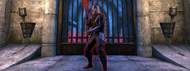 Prior Thierric Sarazen in Red Petal Bastion dungeon ESO