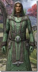 Ancient Elf Homespun Robe - Male Close Front