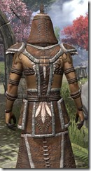 Argonian Homespun Robe - Male Close Back
