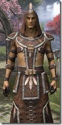 Argonian Homespun Robe - Male Close Front