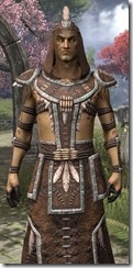 Argonian Homespun Robe - Male Close Front