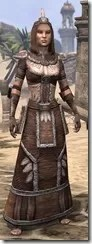 Argonian Linen - Female Robe Front