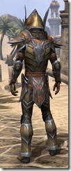 Dark Elf Dwarven - Male Rear