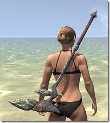 Elder Argonian Iron Battle Axe 1