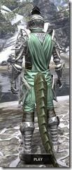 Apostle Homespun - Argonian Male Shirt Rear