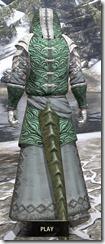 Abah's Watch Homespun - Argonian Male Robe Rear