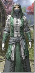 Abah's Watch Homespun - Khajiit Female Robe Close Front