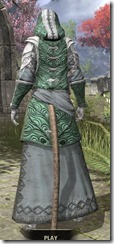 Abah's Watch Homespun - Khajiit Female Robe Rear