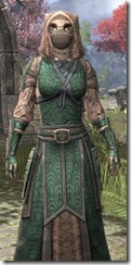 Akaviri Homespun - Khajiit Female Robe Close Front
