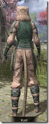 Akaviri Homespun - Khajiit Female Shirt Rear