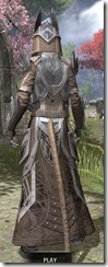 Aldmeri Dominion Homespun - Khajiit Female Robe Rear