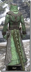 Ancient Elf Homespun - Argonian Male Robe Rear