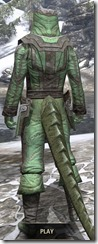 Ancient Elf Homespun - Argonian Male Shirt Rear