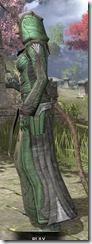 Ancient Elf Homespun - Khajiit Female Robe Side