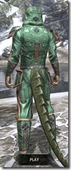 Ancient Orc Homespun - Argonian Male Shirt Rear