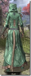 Ancient Orc Homespun - Khajiit Female Robe Rear