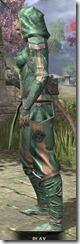 Ancient Orc Homespun - Khajiit Female Shirt Side