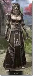 Argonian Cotton - Khajiit Female Robe Front