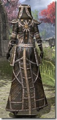 Argonian Cotton - Khajiit Female Robe Rear