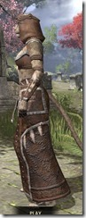 Argonian Homespun - Khajiit Female Robe Side