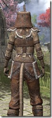 Argonian Homespun - Khajiit Female Shirt Close Rear