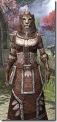 Argonian Linen - Khajiit Female Robe Close Front