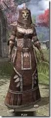 Argonian Linen - Khajiit Female Robe Front