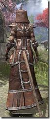 Argonian Linen - Khajiit Female Robe Rear