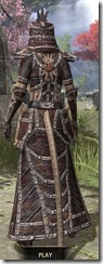 Argonian Spidersilk - Khajiit Female Robe Rear