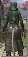 Assassins League Homespun - Khajiit Female Robe Close Rear