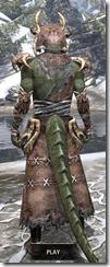 Barbaric Homespun - Argonian Male Robe Rear