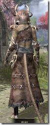 Barbaric Homespun - Khajiit Female Robe Rear