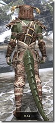 Barbaric Rawhide - Argonian Male Rear