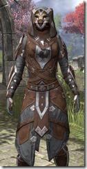 Dark Brotherhood Rawhide - Khajiit Female Close Front