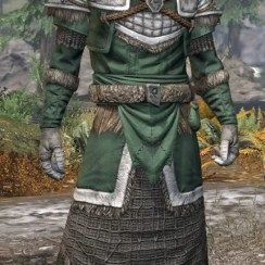 Icereach Coven Homespun - Argonian Male Robe Front