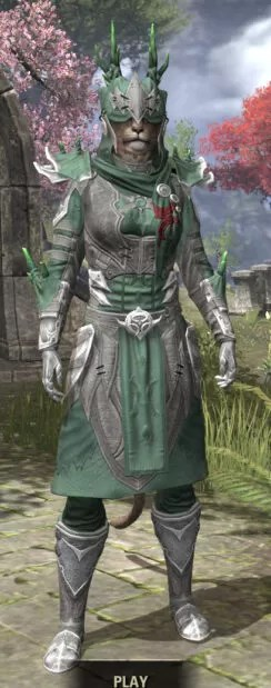 New Moon Priest Iron - Khajiit Female Front