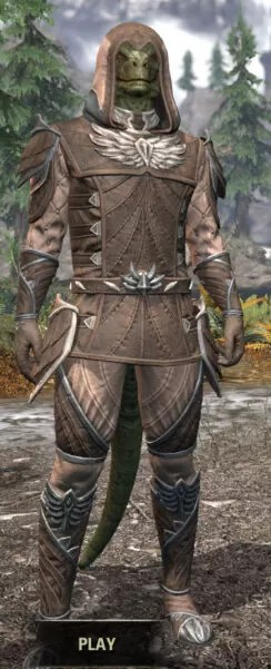 Ancestral High Elf Homespun - Argonian Male Shirt Front