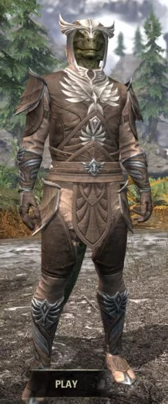 Ancestral High Elf Rawhide - Argonian Male Front