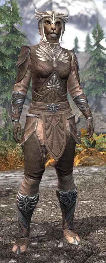 Ancestral High Elf Rawhide - Khajiit Female Front