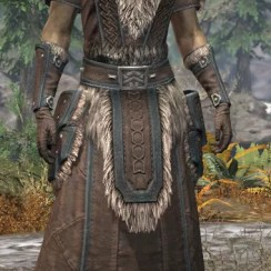 Ancestral Nord Homespun - Khajiit Female Robe Front