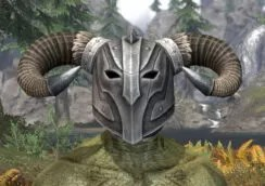 Ancestral Nord Iron Helm - Argonian Male Front