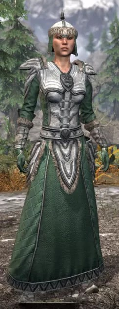 Ancestral Orc Homespun - Female Robe Front