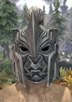 Ancestral Orc Iron Helm - Khajiit Female Front